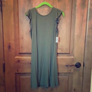 NWT Old Navy olive green dress.